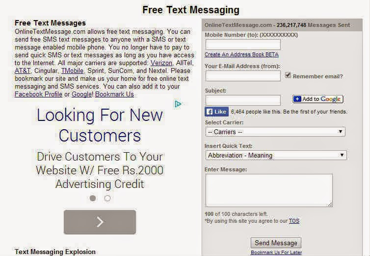 send messages free - onlinetextmessage