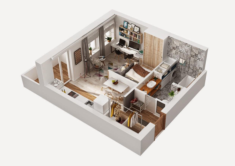 Дизайн планировка однокомнатной квартиры 40 кв.м