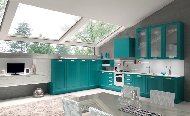Cocinas de color turquesa colores en casa - Color turquesa en paredes ...