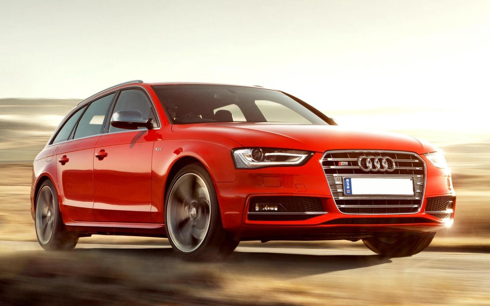 Audi Avant 2013 In Red Colour Wallpaper Cars Wallpapers Hd