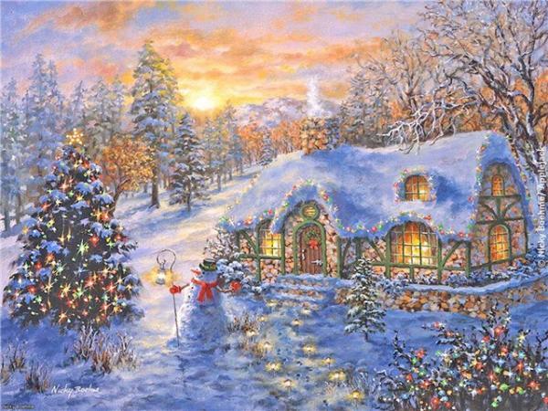 Postales de paisajes nevados navidad hot girls wallpaper - Paisaje nevado navidad ...