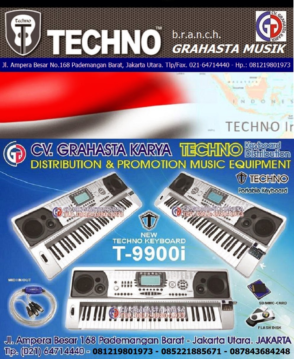 Jual KEYBOARD TECHNO (GRAHASTA) HP.081219801973