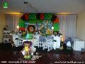 Tema Madagascar para decoração de festa infantil - mesa decorada com tema infantil