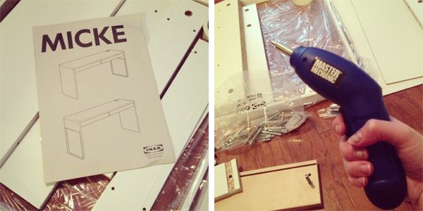 NEW IKEA MICKE DESK! (via Holly Would)