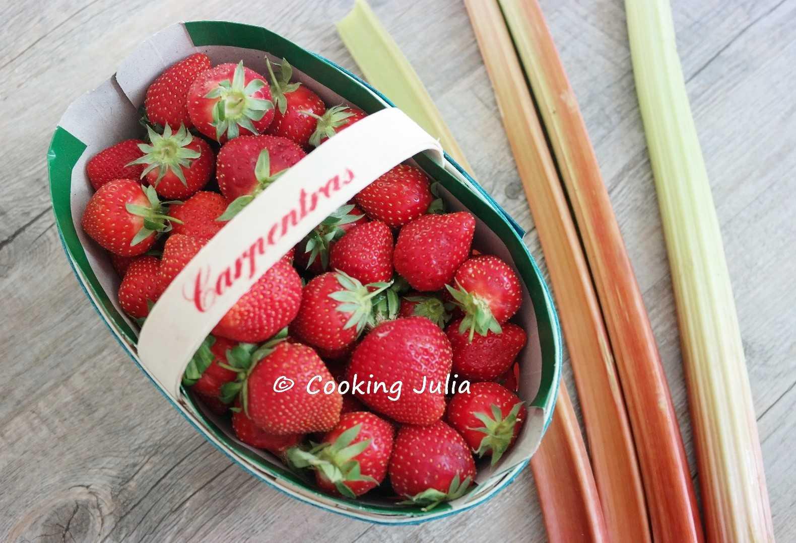 cooking julia : confiture fraises-rhubarbe aux graines de chia