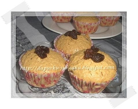 Resep Oatmeal, Muffin Oatmeal Kismis