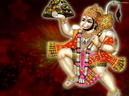 Lord Hanuman Animated Desktop Wallpaper
