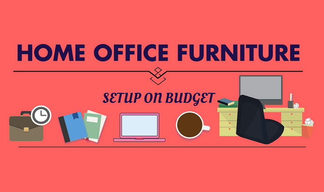 home office furniture set up on budget infographic budget home office furniture