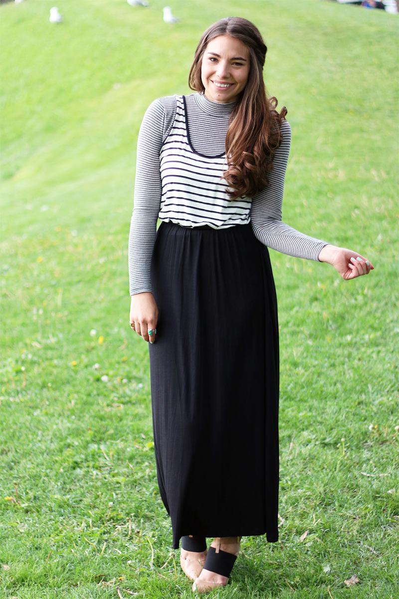 Triple Thread Co. Striped Maxi Dress