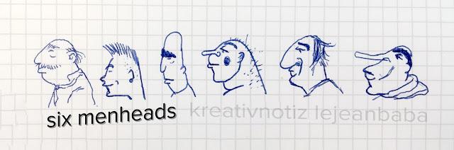 #kreativnotiz six menheads