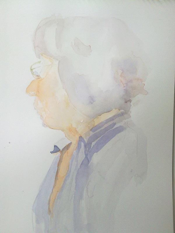 primera mancha en retrato