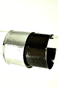 Silver & Hematite Double Cuff
