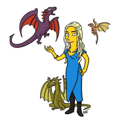 Daenerys-Targaryen-simpson