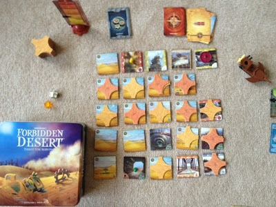 Forbidden Desert board game in play