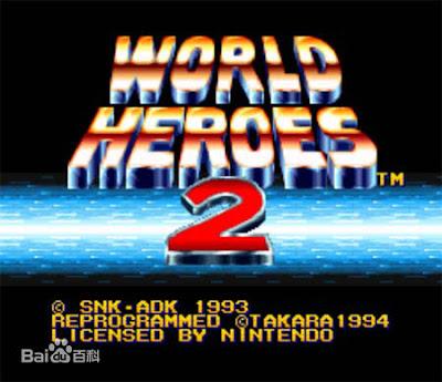 街機-英雄榜1+2(World Heroes)+金手指作弊碼,90年代熱門刀劍格鬥遊戲!