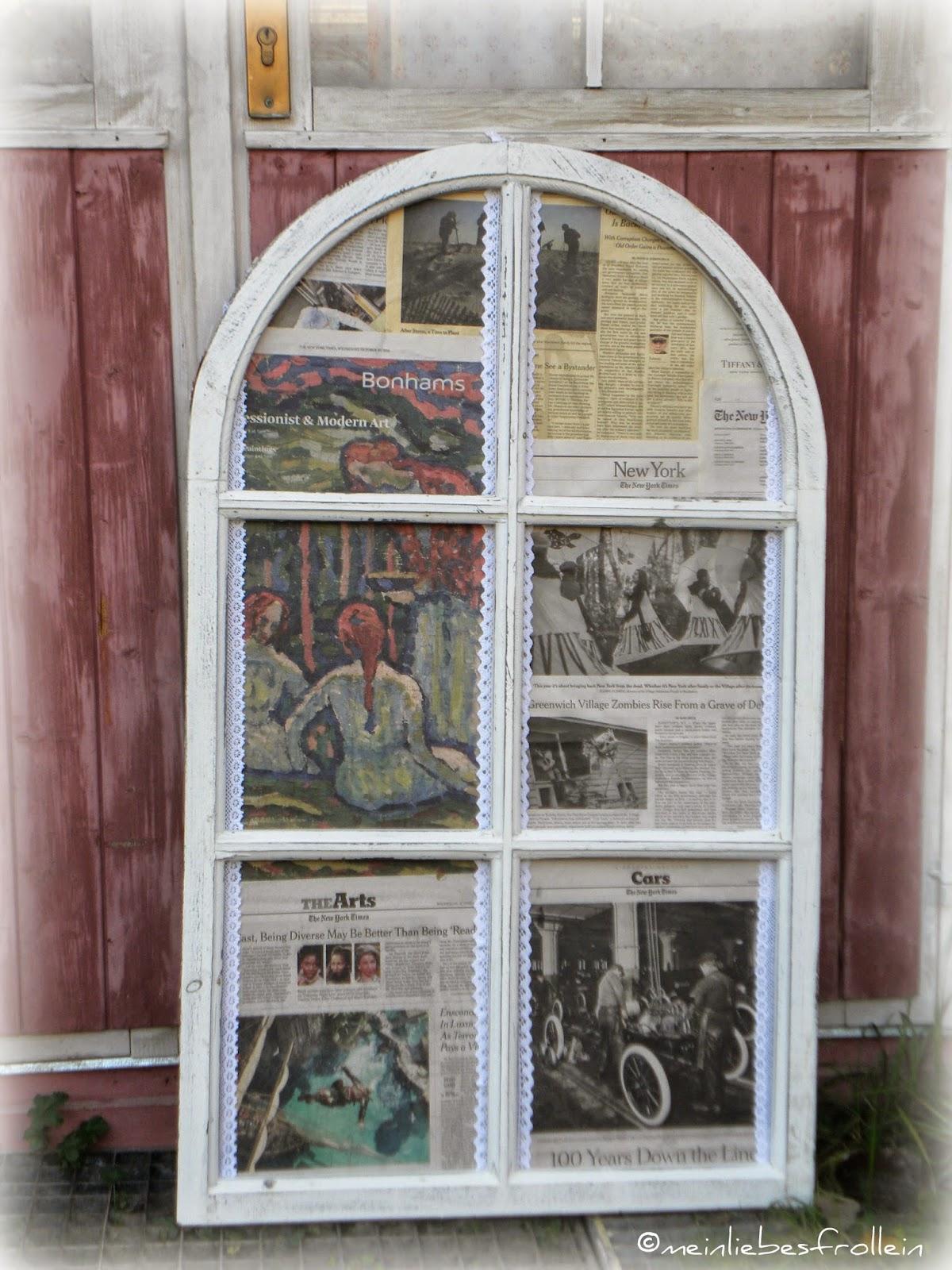 mein liebes frollein: shabby chic Fensterrahmen