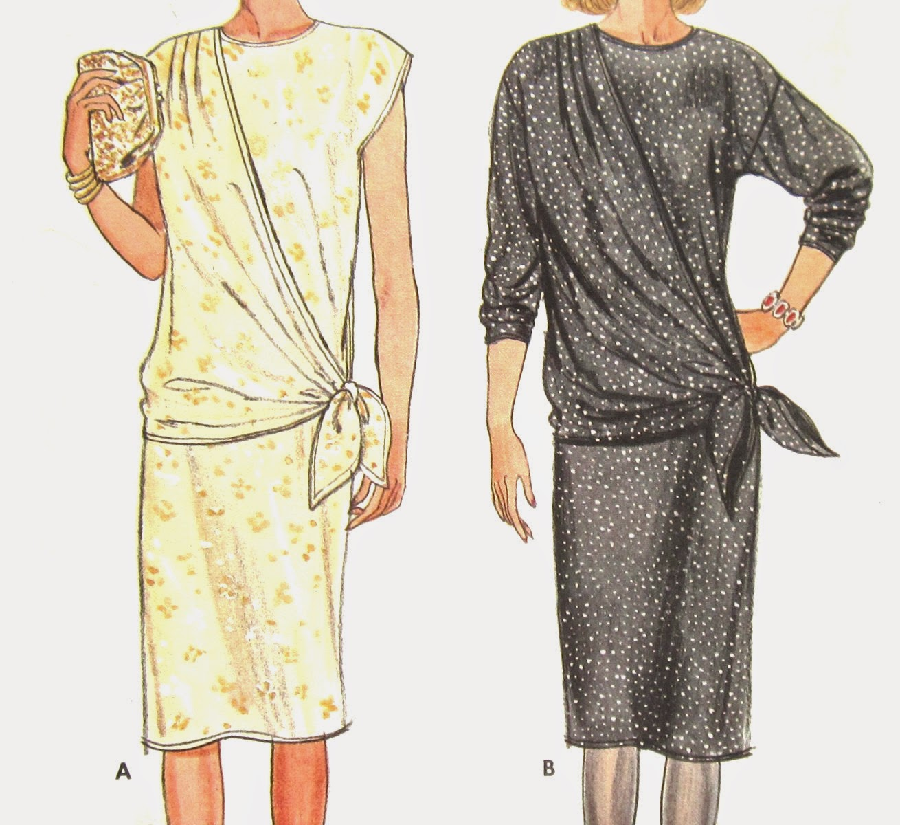 Draped Gown Pattern: SimplySewing: Butterick 6688 Pattern Misses Draped Dress