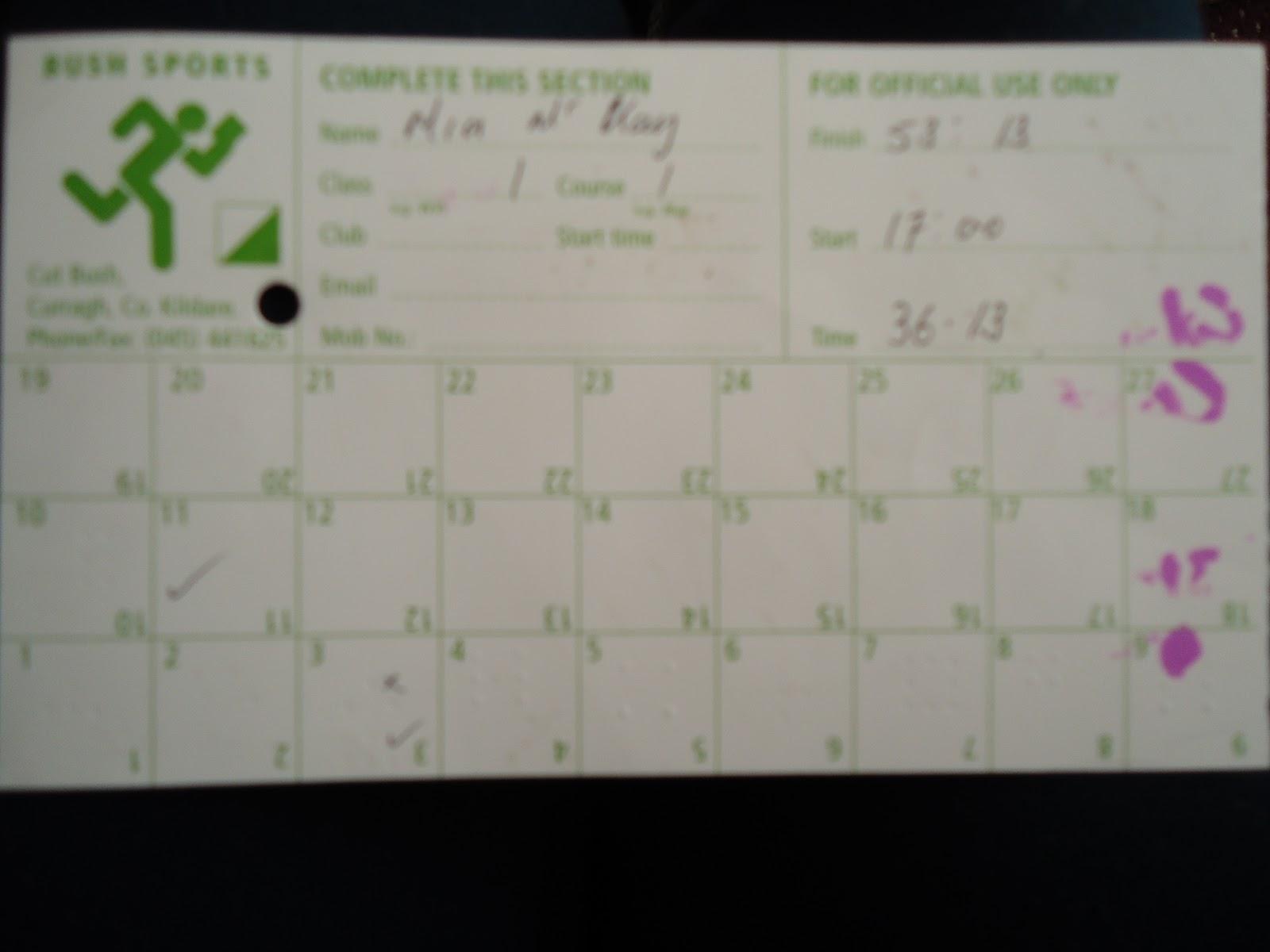 Download orienteering punch card template centrizius for Orienteering control card template