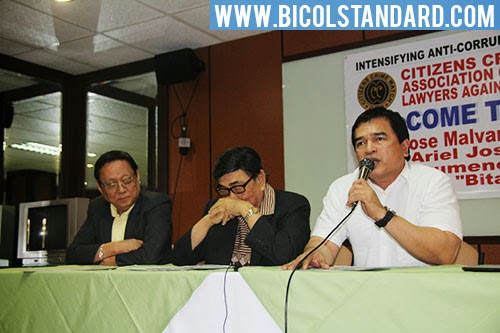 Citizens Crime Watch and Association of Volunteer Lawyers Against Corruption Press Conference in Naga City