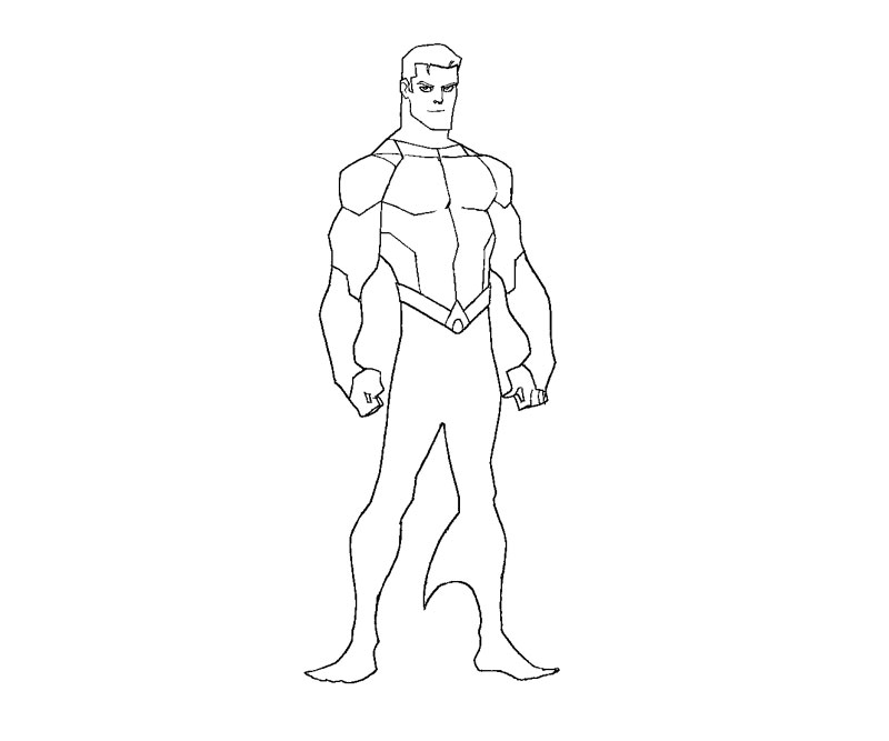 Martian Manhunter Coloring Pages #2
