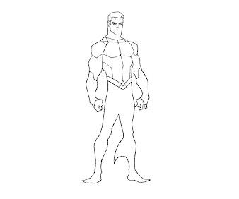 #10 Aquaman Coloring Page