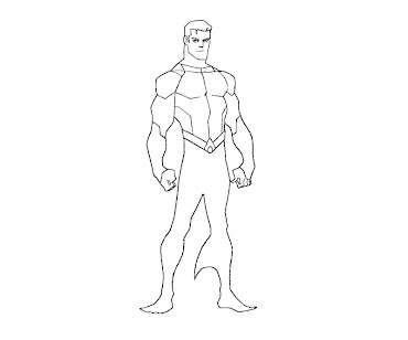 #10 Aquaman Coloring Page