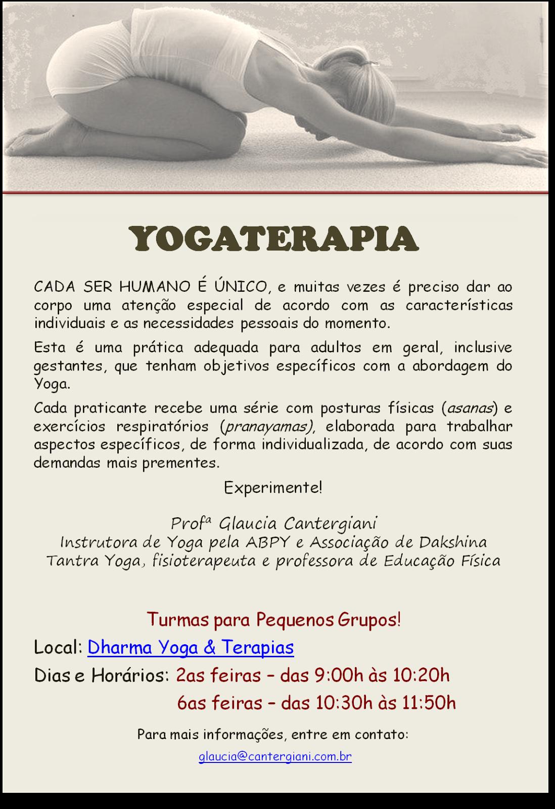 YOGATERAPIA - Yoga para tratar!