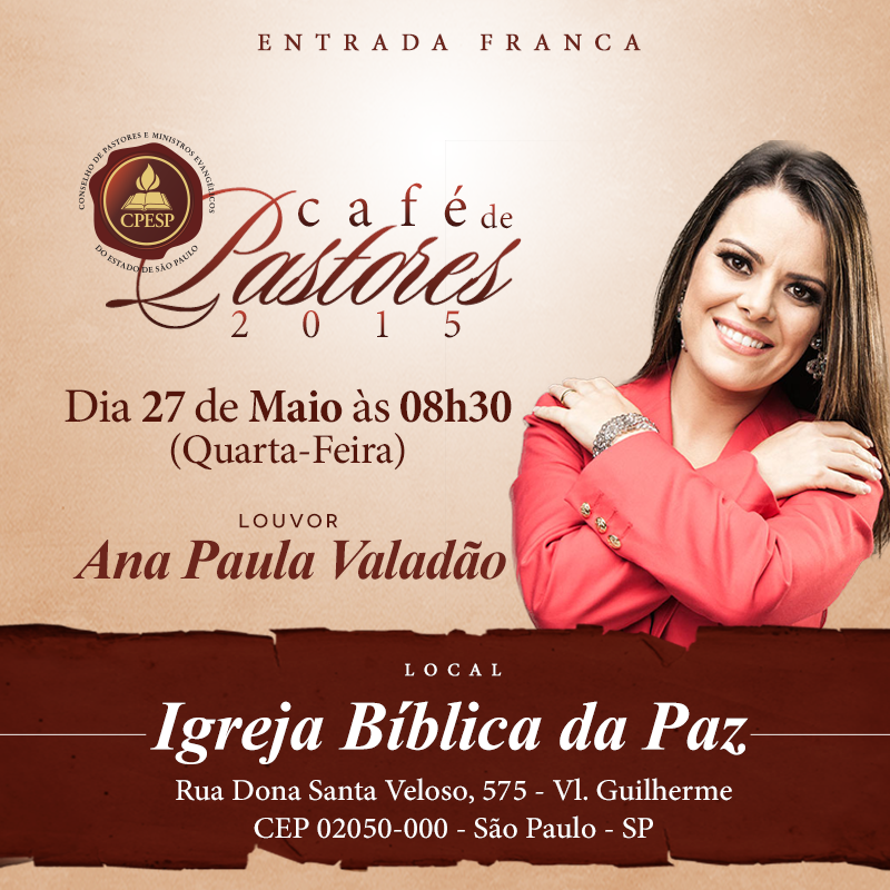 CAFÉ CONSELHO DE PASTORES ESTADO DE SÃO PAULO – CPESP