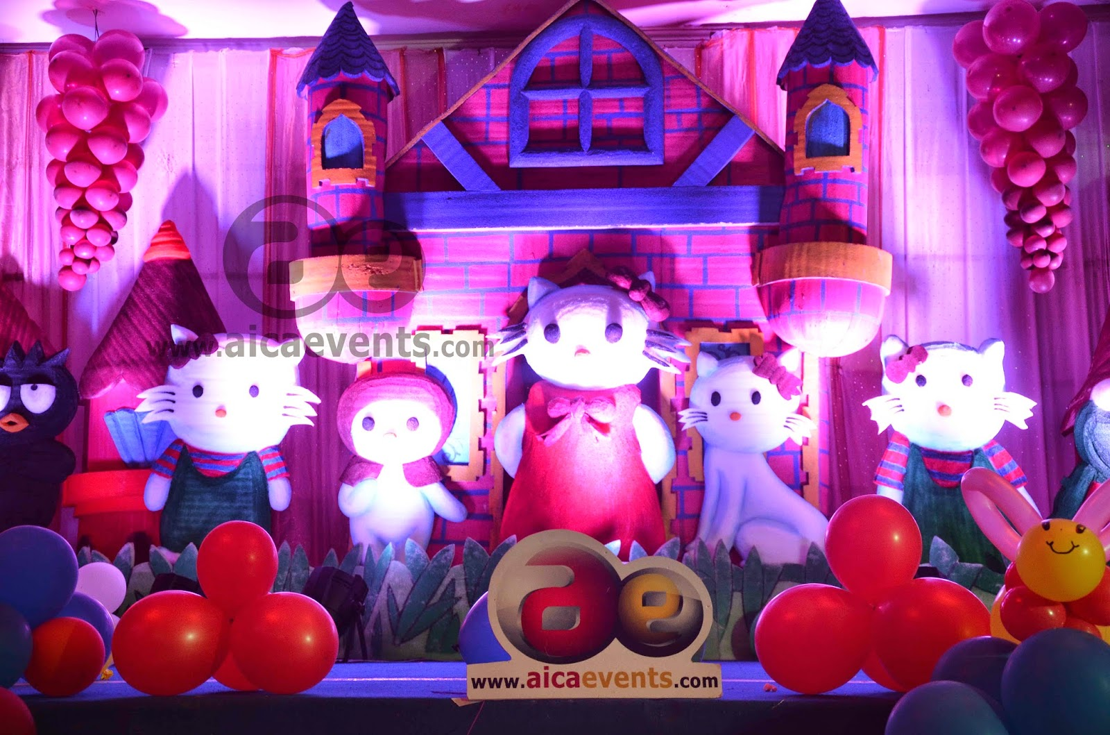 aicaevents Hello Kitty Theme Birthday Decorations
