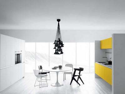 Modern yellow kitchen Furniture