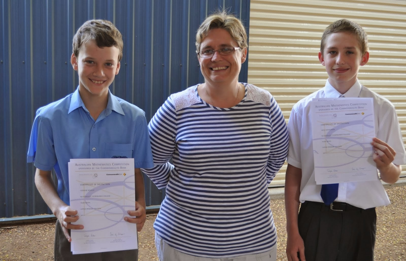 Maths Competition Awards