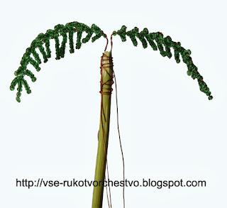 Пальма из бисера. Мастер-класс