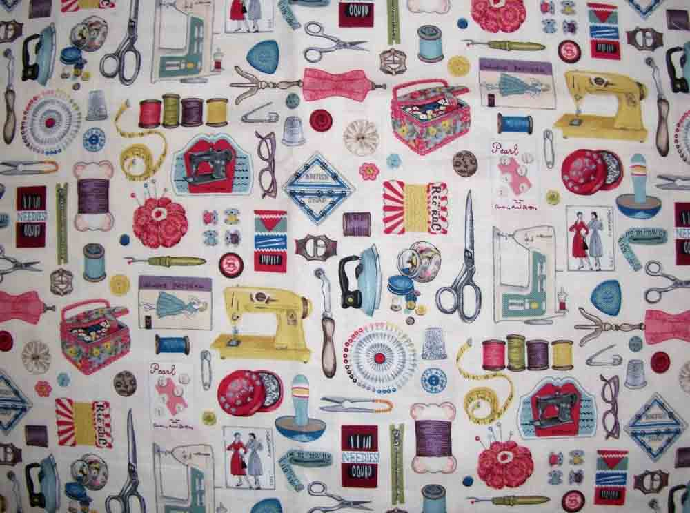 Little scrap of cloth novelty fabric day 3 for Sewing fabric