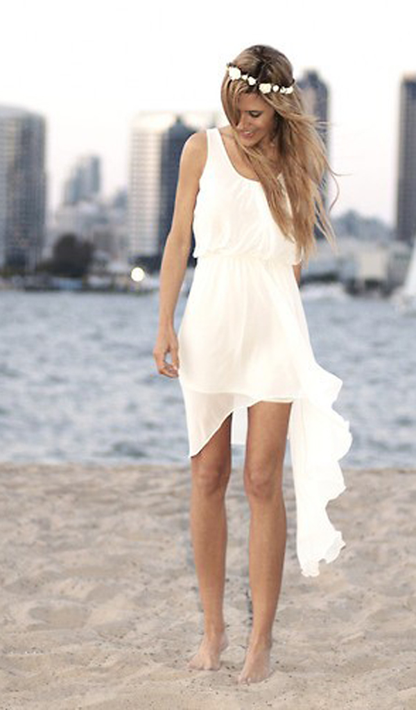 beach wedding dresses simple