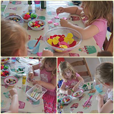 Play dates - flower crafting fun