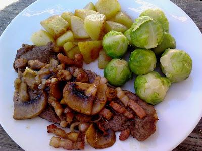 Faux filet (entrecote) met champignons