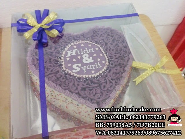 kue tart love ungu daerah surabaya - sidoarjo