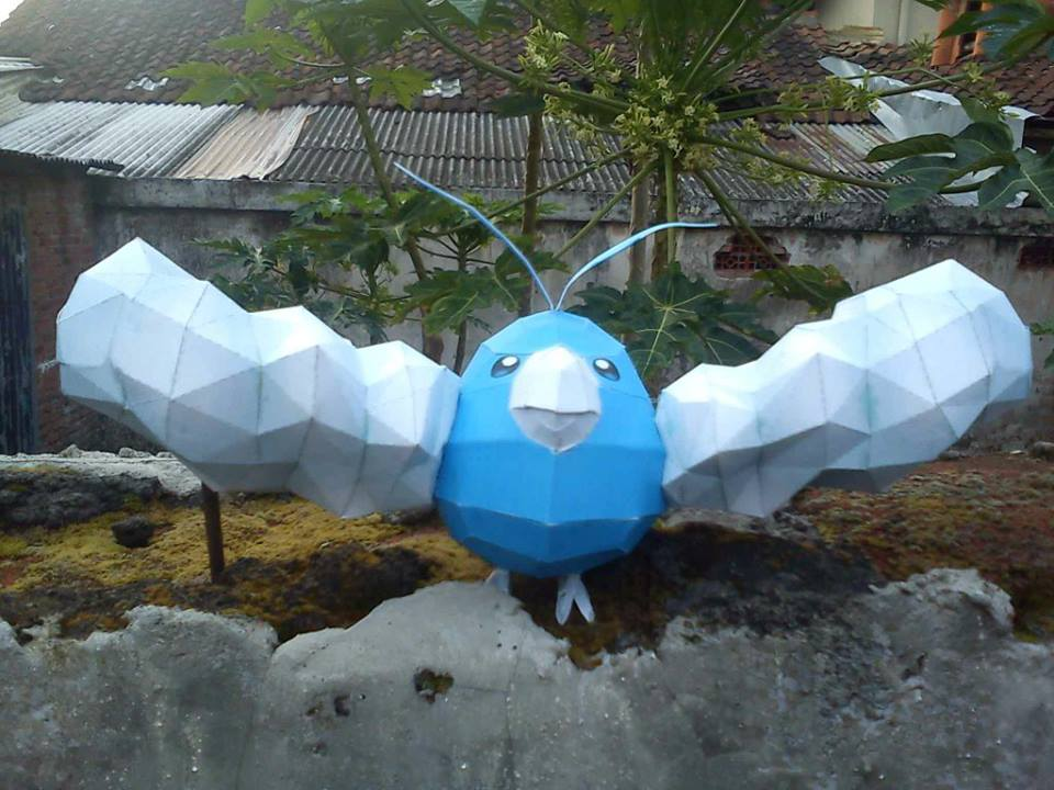 Pokemon Swablu Papercraft