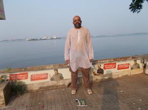 "Rudolph.A.Furtado at Ernakulam ""Marine Drive"" promenade  in Kochi."