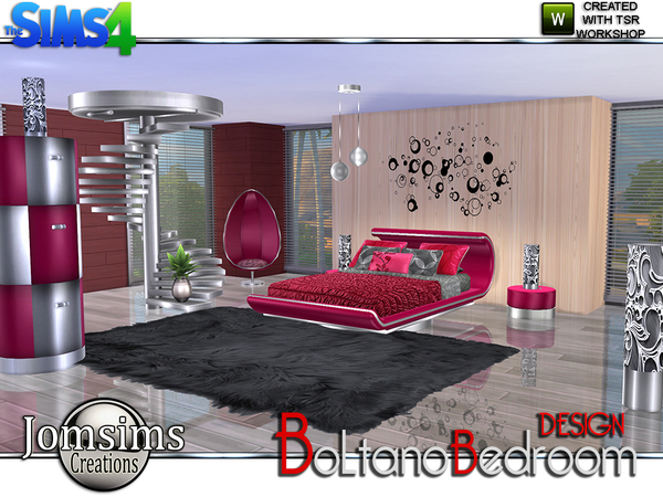 My sims 4 blog jomsims boltano design bedroom tsr for Sims 4 bedroom ideas