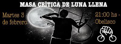 Bicicleteada Masa crítica de luna llena (martes 03/feb/2015)