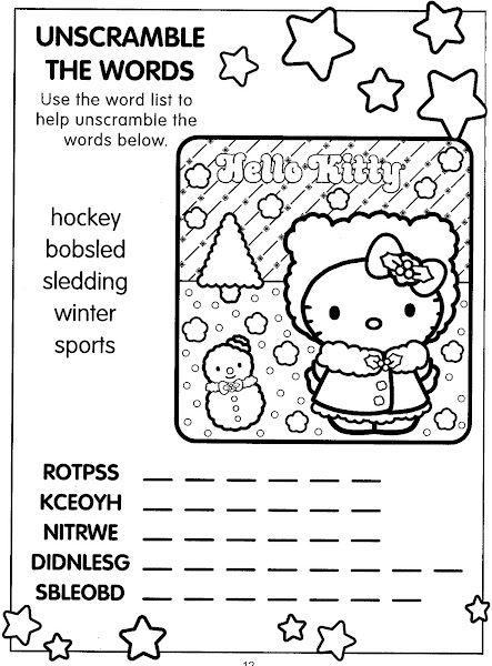 Hello Kitty Coloring and Activity Pages