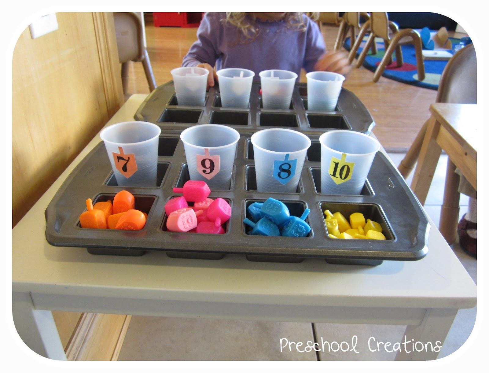 Preschool creations dreidel counting for Hanukkah crafts for kindergarten