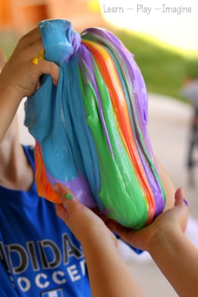 Rainbow slime recipe