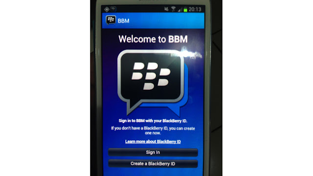 BBM for android leaked