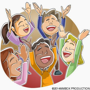 Children singing and praising