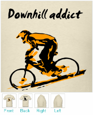 Mountain Biking T-shirt - Downhill Addict