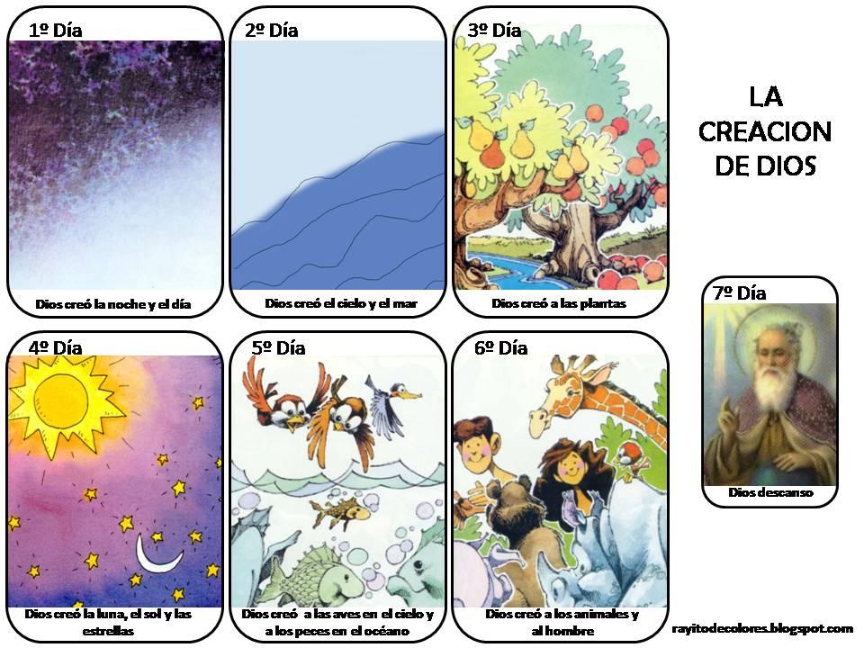 Si quieres aprender ense a la creaci n de dios for En 7 dias dios creo el mundo