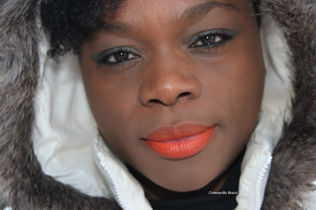 beauty blogger, blogueuse beauté, frenchblogger, Cosmopolitan beauty, lips, lèvres, blackbeauty, beauté noire, cosmopolite beauté, orange is the new black, rouge à lèvres orange, orange, maquillage orange, makeup orange, orange lipstick