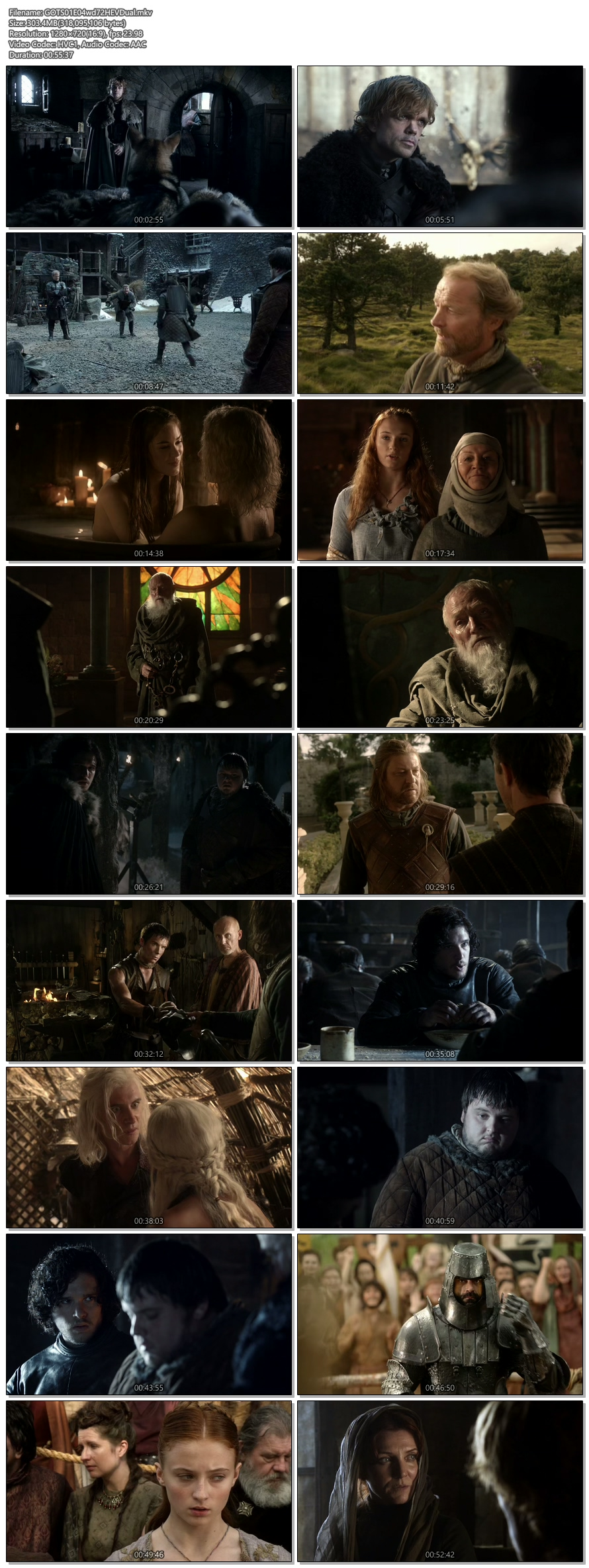 Screenshots Of Hindi Dubbed Show Game Of Thrones 2011 Season 01 Episode 04 300MB 720P HD